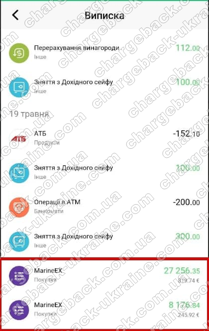 24.05.2021 возврат из Tradershome 35433 грн