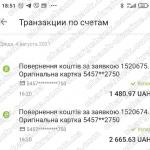 04.08.2021 возврат из Lime FX 4146,60 грн