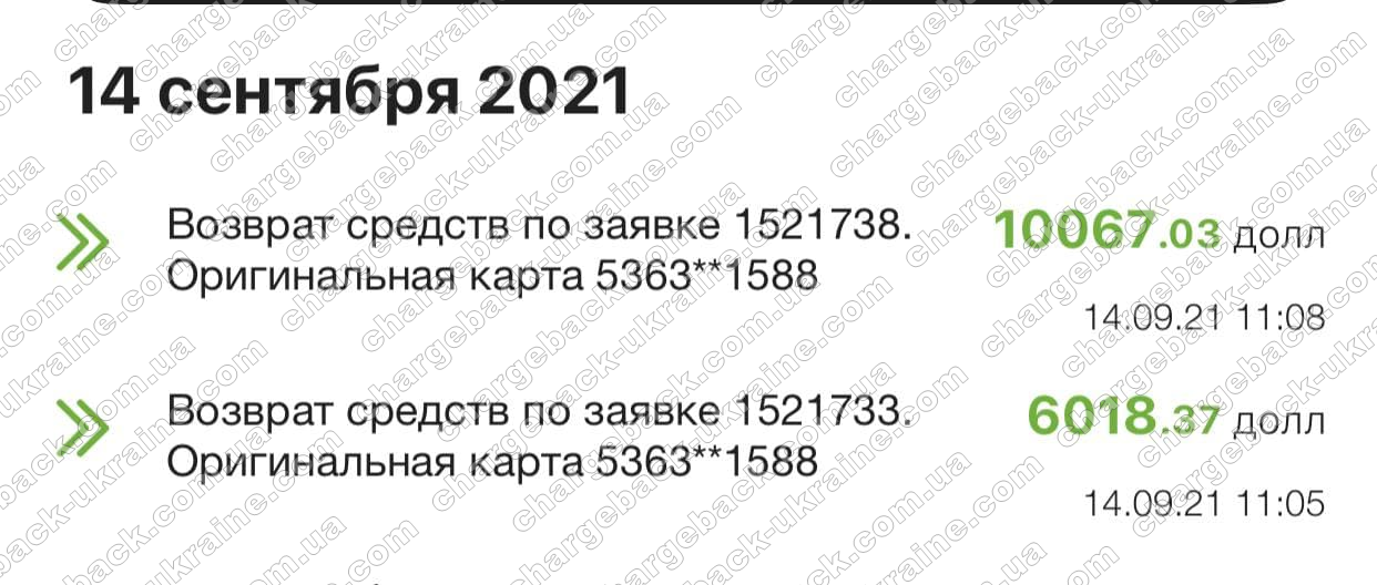 14.09.2021 возврат (chargeback) из vlom 16085,40 usd