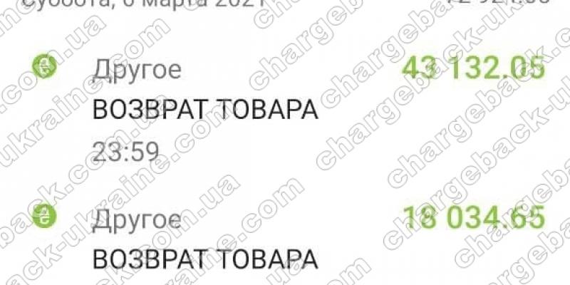15.03.2021 возврат из Adal-Royal 73 682,55 грн