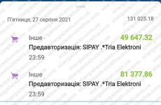 28.08.2021 возврат из GTTC Ltd 131025,18 грн