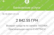 19.10.2021 возврат (chargeback) из OLYMPTRADE.COM 2842,55 UAH