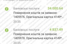 20.03.2021 возврат из Want-Broker 38838,13 грн