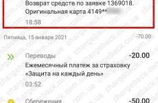 16.01.2021 возврат из AMEROM 6708 грн