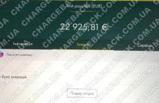 10.02.2021 возврат из Tradershome 22925,81 EUR