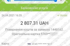 24.04.2021 возврат из vlom 2807,31 грн
